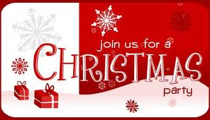 Invitation to Travel with Me Christmas Party